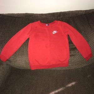 Red sweater shirt
